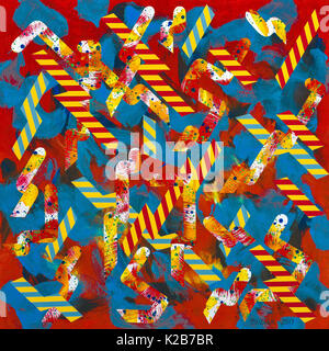 'Snakes and Ladders' - abstract artwork by Ed Buziak. - Stock Photo