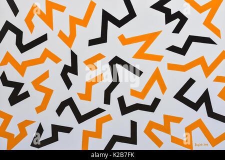 'Vauban's Hazard Stripes' - abstract artwork by Ed Buziak. - Stock Photo