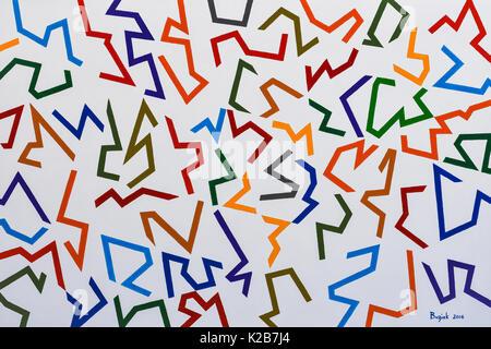 'Vauban Confused #2' - abstract artwork by Ed Buziak. - Stock Photo