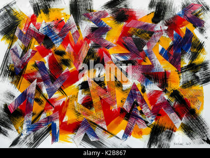 'Pop Camouflage' - abstract artwork by Ed Buziak. - Stock Photo