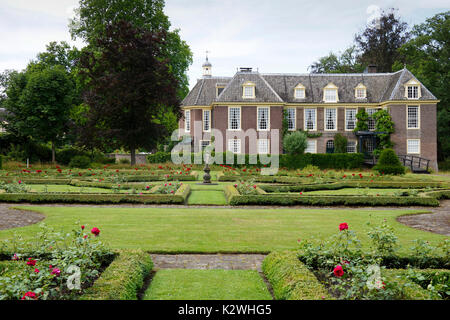 View on a Dutch classical estate - Stock Photo