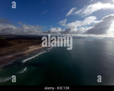 Aerial View Te Arai Point New Zealand - Stock Photo