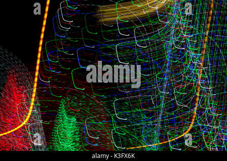 Abstract lights motion blur - Stock Photo