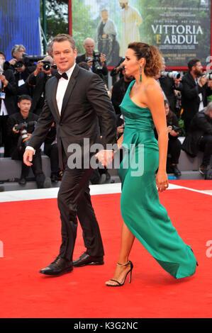 Venice, Italy. 02nd Sep, 2017. 74th Venice Film Festival 2017 Red carpet film ' Suburbicon' Pictured Matt Damon, - Stock Photo