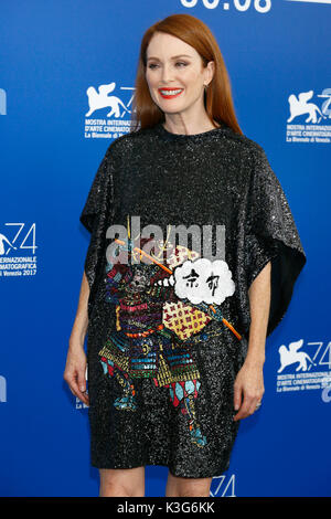 Venice, Italy. 02nd Sep, 2017. Julianne Moore attends the 'Suburbicon' photocall during the 74th Venice Film Festival - Stock Photo