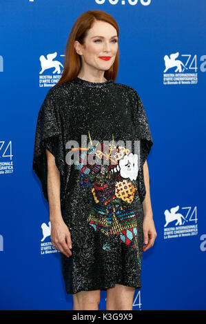 Venice, Italy. 02nd Sep, 2017. Julianne Moore during the 'Suburbicon' photocall at the 74th Venice International - Stock Photo