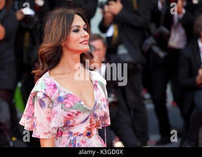 Venice, Italy. 2nd Sep, 2017. Maria Grazia Cucinotta at the premiere of the film Suburbicon at the 74th Venice Film - Stock Photo