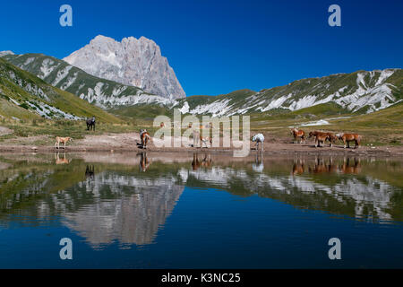 Europe, Italy, Abruzzo. Gran Sasso and Monti della Laga National Park - Stock Photo