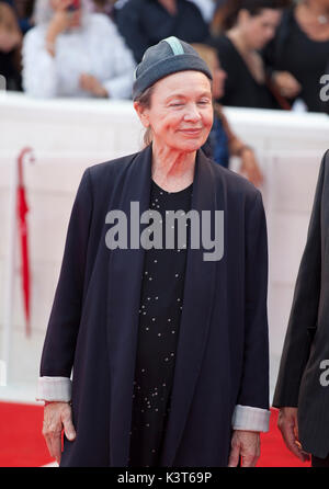 Venice, Italy. 2nd Sep, 2017. Laurie Anderson at the premiere of the film Suburbicon at the 74th Venice Film Festival, - Stock Photo
