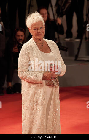 Judi Dench at the premiere of the film Victoria & Abdul at the 74th Venice Film Festival, Sala Grande on Sunday - Stock Photo