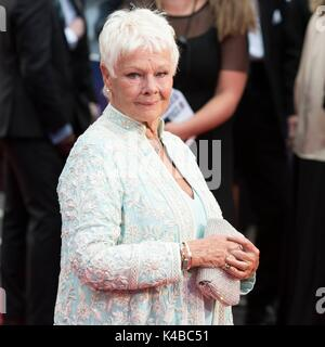 London, United Kingdom Of Great Britain And Northern Ireland. 05th Sep, 2017. Judi Dench attends VICTORIA & ABDUL - Stock Photo