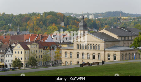 Coburg With The Theatre And View To The City, Upper Franconia - Stock Photo