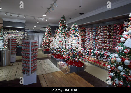 macys department store interior christmas decorations area in new york stock photo