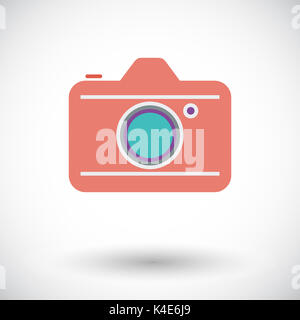 Camera. Flat vector icon for mobile and web applications. Vector illustration. - Stock Photo