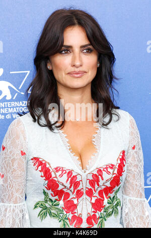 Venice, Italy. 06th Sep, 2017. Penelope Cruz attends the 'Loving Pablo' photocall during the 74th Venice Film Festival - Stock Photo