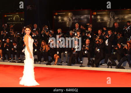 ITALY, Venice: Actress Penelope Cruz attends during the premiere of the movie 'Loving Pablo' during the 74th Venice - Stock Photo