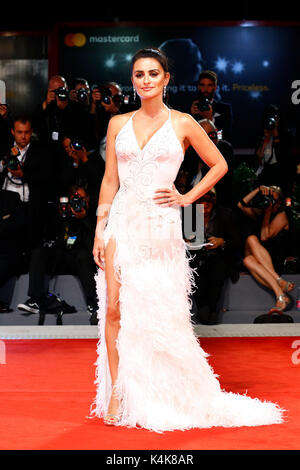 Venice, Italy. 06th Sep, 2017. Penelope Cruz attends the 'Loving Pablo' premiere during the 74th Venice Film Festival - Stock Photo