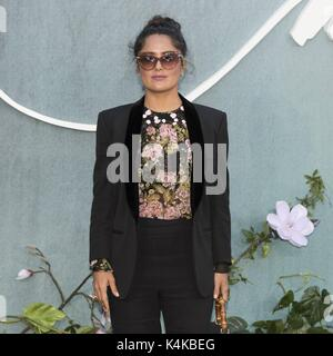 London, Grossbritannien. 06th Sep, 2017. Salma Hayek attends MOTHER! UK Premiere - London, England (06/09/2017) - Stock Photo
