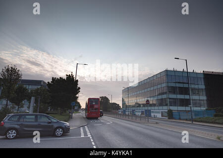 Heathrow airport, Uxbridge, London, UK. Thursday7th Septemberl 2017. UK weather:Sunny morning at London Heathrow - Stock Photo