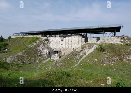 Maasilinna Castle. Outside view.  Orissaare Parish, Saare County, Estonia. 30th August 2017 - Stock Photo