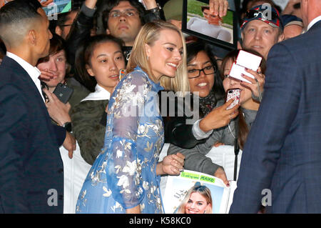 Toronto, Canada. 08th Sep, 2017. Margot Robbie attending the 'I, Tonya' premiere during the 42nd Toronto International - Stock Photo