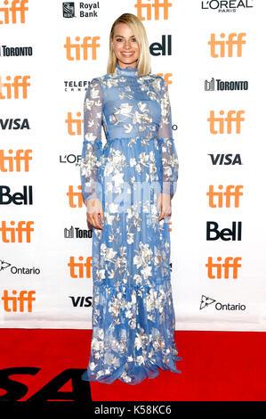 Toronto, Canada. 08th Sep, 2017. Margot Robbie attending the 'I, Tonya' premiere during the 42nd Toronto International - Stock Photo
