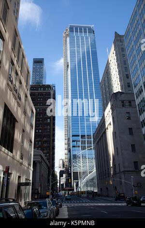 Three World Trade Center Viewed from Church Street in New York - USA - Stock Photo