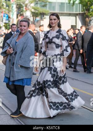 Toronto, Canada. 10th Sep, 2017. Actress Rachel Weisz (R) attends the world premiere of the film 'Disobedience' - Stock Photo