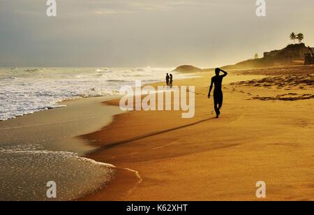 Walk on a beach - Stock Photo