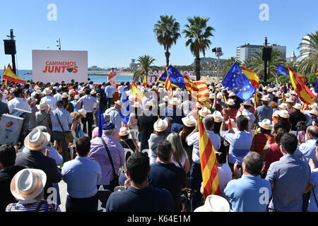 Barcelona, Spain. 11th Sep, 2017. A general view of the President of the Ciutadans political group Albert Rivera - Stock Photo