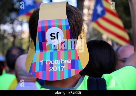 Barcelona, Spain. 11th Sep, 2017. Credit: Dino Geromella/Alamy Live News - Stock Photo