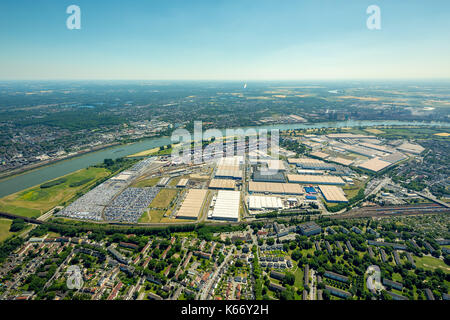 aerial view container storage area port of duisburg. Black Bedroom Furniture Sets. Home Design Ideas