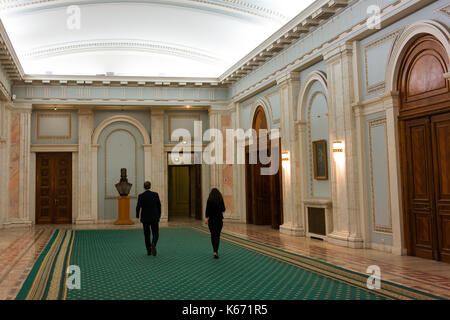 Palace of parliament interior bucharest romania stock for Intranet interior