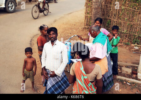 Unidentified People Lifestyle in rural village - Stock Photo