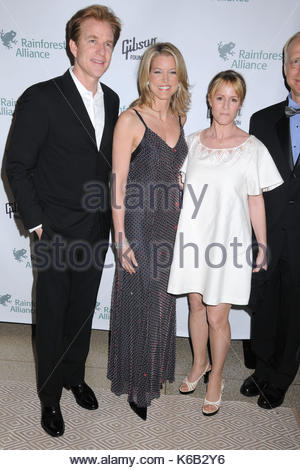 Matthew Modine, Paula Zahn and Mary Stuart Masterson. Celebrities from the news and entertainment industries lend - Stock Photo