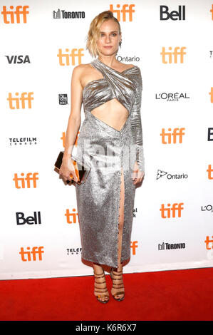 Toronto, Canada. 12th Sep, 2017. Diane Kruger attending the 'In the Fade' premiere during the 42nd Toronto International - Stock Photo