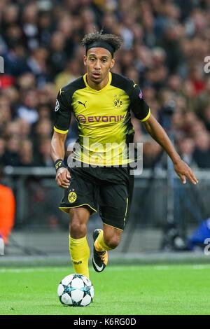 London, UK. 13th Sep, 2017. Pierre-Emerick Aubameyang (Dortmund) Football/Soccer : Pierre-Emerick Aubameyang of - Stock Photo