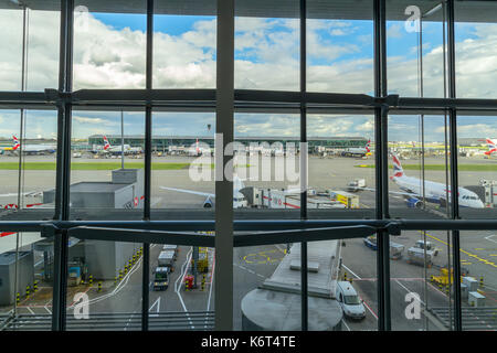 View from T5 Heathrow Airport, London,UK. - Stock Photo