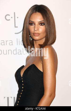 September 14, 2017 - New York, New York, U.S. - Model/actress EMILY RATAJKOWSKI attends Rihanna's 3rd Annual Diamond - Stock Photo