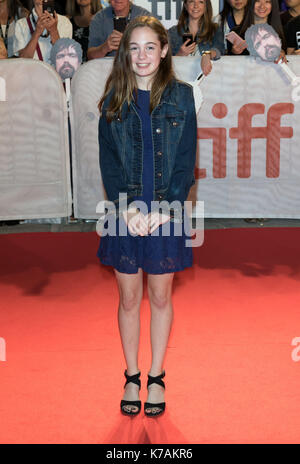 Toronto, Canada. 15th Sep, 2017. Ripley Sobo attends the premiere of 'Three Christs' during the 42nd Toronto International - Stock Photo