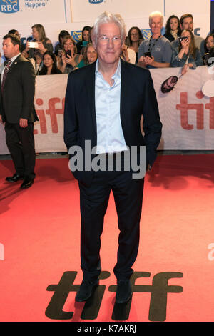 Toronto, Canada. 15th Sep, 2017. Richard Gere attends the premiere of 'Three Christs' during the 42nd Toronto International - Stock Photo