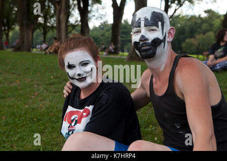 Saturday, September 16th, 2017, Washington, DC USA: Juggalos gather on the National Mall to protest the US Department - Stock Photo