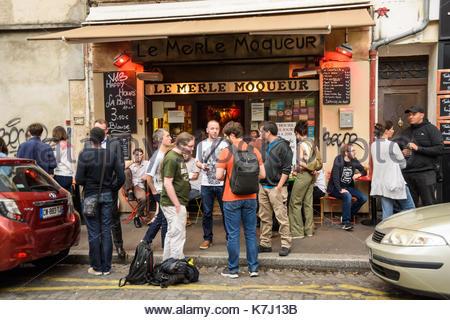 France paris la butte aux cailles district the tandem restaurant stock photo royalty free - Restaurant buttes aux cailles ...