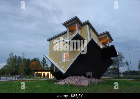 Upside down house in Tartu. Estonia 17th September 2017 - Stock Photo