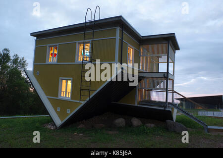 Upside down house in Tartu. Estonia 17th September 2017 - Stock Photo
