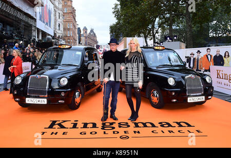 Matthew Vaughn and Claudia Schiffer attending the World Premiere of Kingsman: The Golden Circle, at Cineworld in - Stock Photo