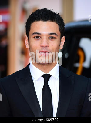 Calvin Demba attending the World Premiere of Kingsman: The Golden Circle, at Cineworld in Leicester Square, London. - Stock Photo
