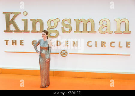 London, UK. 18th Sep, 2017. Julianne Moore attends the KIngsman: The Golden Circle world film premiere Credit: ZUMA - Stock Photo