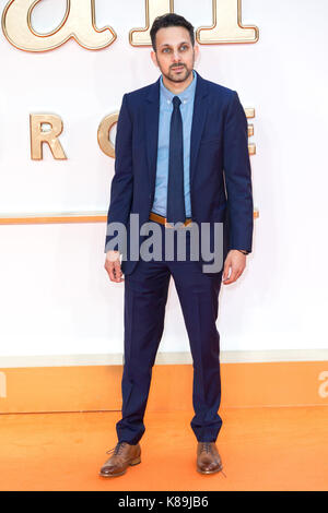 London, UK. 18th Sep, 2017. Dynamo attends the KIngsman: The Golden Circle world film premiere Credit: ZUMA Press, - Stock Photo