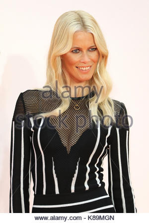London, UK. 18th Sep, 2017. Claudia Schiffer attends the world premiere of Kingsman: The Golden Circle at Leicester - Stock Photo